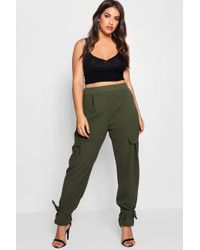 Boohoo - Plus Cindy Pocket Detail Utility Trouser - Lyst