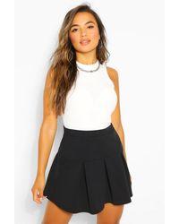 Boohoo Petite Pleated Tennis Skirt - Black
