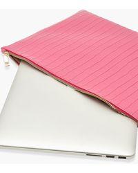 Boohoo Zip Top Croc Laptop Case - Pink