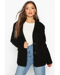 Boohoo - Oversized Wool Look Blazer - Lyst