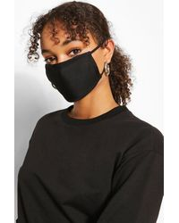 Boohoo Mixed Print Fashion Mask 3 Pack - Black