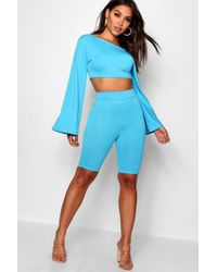 Boohoo - Off The Shoulder Cycling Short Co-ord Set - Lyst