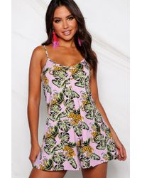 4a4d42fe089 Oasis Pressed Flower Playsuit in Blue - Lyst