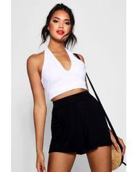 Boohoo - Basic Plain Flippy Culotte Shorts - Lyst