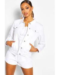 Boohoo Womens Denim Western Jacket - White