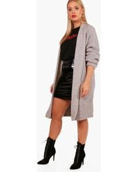 Boohoo | Plus Holly Oversized Chunky Cardigan | Lyst