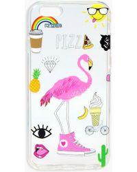 Boohoo Flamingo & Icons Iphone 6 Case - Multicolor