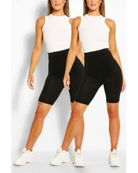 Boohoo 2 Pack Basic Jersey Biker Shorts - Black