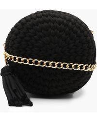 Boohoo - Handmade Woven Round Bag - Lyst