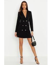 Boohoo Tall Blazer Dress - Black