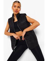 Boohoo Woman Rubber Tab Active Gilet - Black