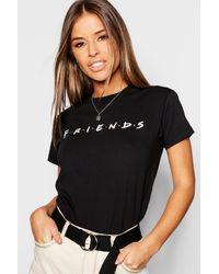 Boohoo Petite Friends Licensed T-shirt - Black