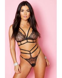 Boohoo - Metallic Lace Strapping Set - Lyst