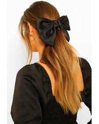 Boohoo Large Satin Bow - Black