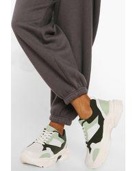 Boohoo Colourblock Sneakers - Green