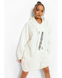 Boohoo Limited Edition Hoodie Dress - White