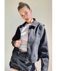Boohoo 80'S Cropped Seam Denim Jacket - Negro