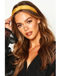 Boohoo Womens 2er-Pack Haarband mit verdrehtem Zierknoten - Braun