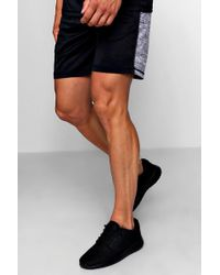 Boohoo - Active Gym Half And Half Shorts - Lyst