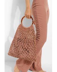 Boohoo Macrame Top Handle Woven Bag - Brown