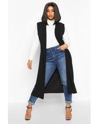 Boohoo Plus Tailored Sleeveless Duster - Black