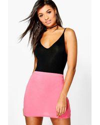Boohoo - Basic Jersey Mini Skirt - Lyst