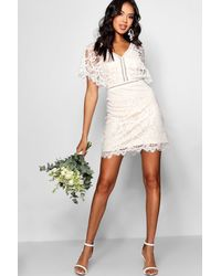 Boohoo Boutique All Over Lace Bodycon Dress - White