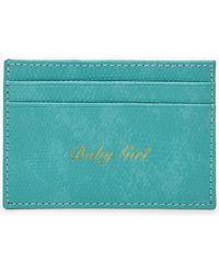 Boohoo Pu Baby Girl Foil Card Holder - Blue