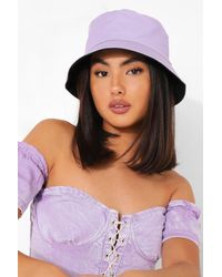 Boohoo Bucket Hat - Viola