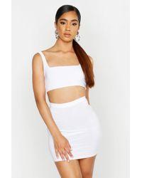 Boohoo - Slinky Strappy Top & Mini Skirt Co-ord - Lyst