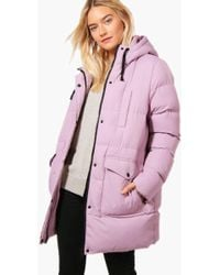 Boohoo | Tilly Longline Hooded Quilted Coat | Lyst