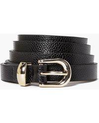 Boohoo Womens Skinny Belt - Black