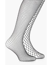 Boohoo - Mixed Scale Fishnet Tights 2 Pack - Lyst