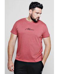 Boohoo Big And Tall Man Signature T-shirt - Pink