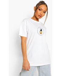 Boohoo Camiseta Con Estampado De Mariposas - Blanco