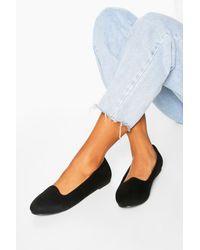 Boohoo Basic Slipper Ballets - Black