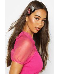 Boohoo Multicolour Diamante Hair Clip 2 Pack - Pink