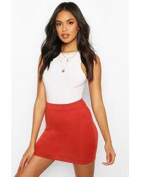 Boohoo Basic Jersey Mini Skirt - Orange