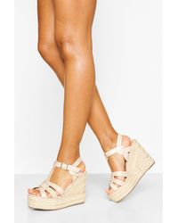 Boohoo Wedge sandals for Women - Up to