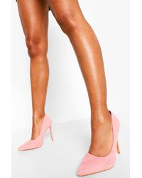 Boohoo Wide Width Pointed Pump - Pink