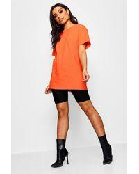 Boohoo Basic Oversized Boyfriend T-shirt - Orange