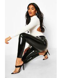 Boohoo Legging En Vinyle À Taille Extra Profonde - Noir