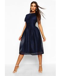 Boohoo - Zaira Boutique Full Skirted Prom Midi Dress - Lyst
