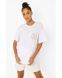 Boohoo Oversized Tennis Printed T-shirt - White