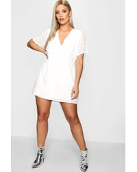 6629fd0f7ac Lyst - Missguided White Dobby Twist Front Romper in White