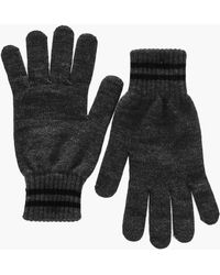 Boohoo - Knitted Gloves With Stripe - Lyst