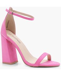Boohoo - Lyla Flared Block Heel 2 Part - Lyst