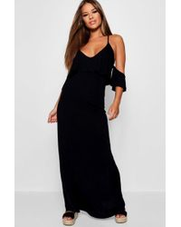 Boohoo - Petite Kelly Overlay Maxi Dress - Lyst