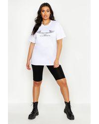 Boohoo Plus Basic Jersey Longline Biker Shorts - Black