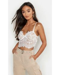 eaa41aeee6 Lyst - TOPSHOP Spot Cupped Bralet in White